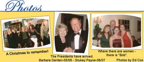 Swansboro Rotary Club event photos: A Christmas to remember, The Presidents have arrived - Barbara Darden 2005/2006 and Stukey Payne 2006/2007, Where there are women - there is 'Bob.'