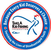 Take A Kid Fishing logo.